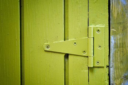 hinge: Yellow door hinge