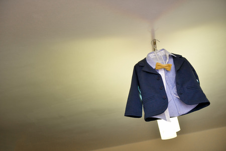 chandelier  kids: Baby boy suit with yellow bow tie