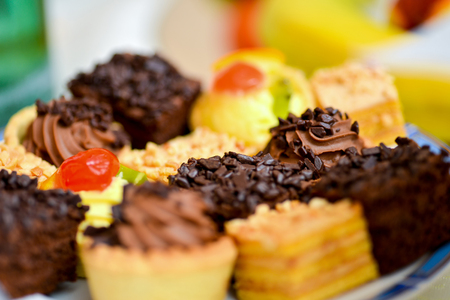 platter: Delicious platter of cupcakes