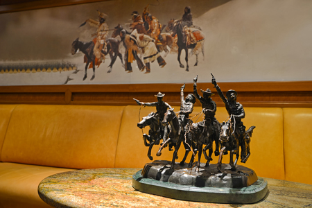 statuette: Statuette with knights on horseback