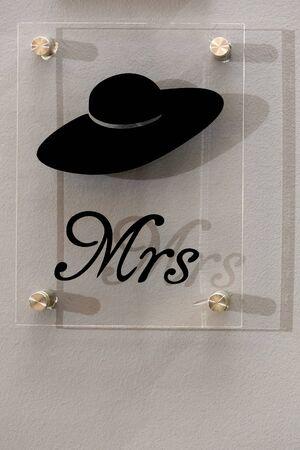 mrs: La se�ora signo en la luz natural Foto de archivo