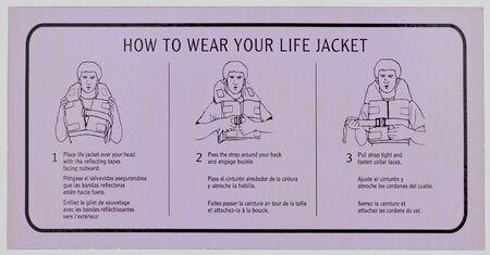 lifejacket: Notice how to use the lifejacket