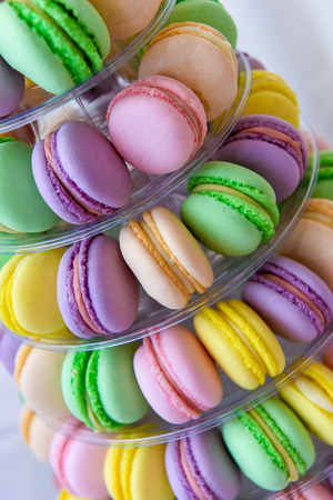 Macarons on a backing in natural light