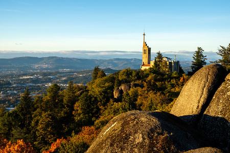 Guimaraes, portugal - Novembro 12, 2017: Alto do monte da Penha, Guimaraes Portugal
