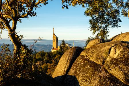 Alto do monte da Penha, Guimaraes Portugal Stock Photo