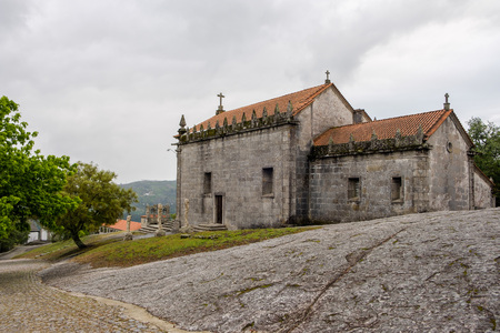 Povoa de Lanhoso, Portugal - May 31, 2018 : Chapels of the Shrine of Our Lady of Pilar Braga, Portugal Stock Photo
