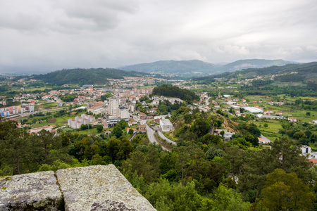 From Pilar Hill we can see part of the municipality of Povoa de Lanhoso Braga, Portugal