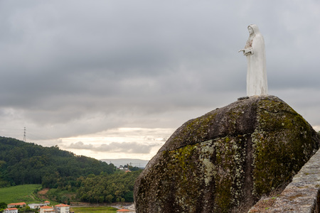 Povoa de Lanhoso, Portugal - May 31, 2018 : Image of Our Lady of Pilar Braga, Portugal Editorial