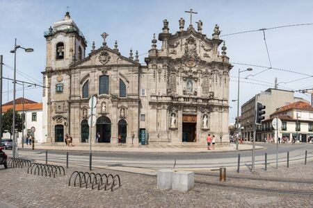 Porto, Portugal - September 16, 2018 :The Carmo Church or Church of the Venerable Third Order of Our Lady of Carmo was built in the second half of the 18th century, between 1756 and 1768. Portugal