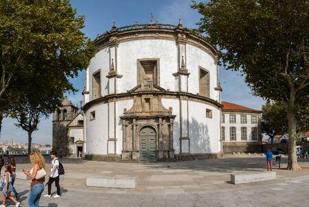 Vila Nova de Gaia, Portugal - September 16, 2018 : Monastery of Serra do Pilar lies on the banks of the Douro River, Porto District, Portugal