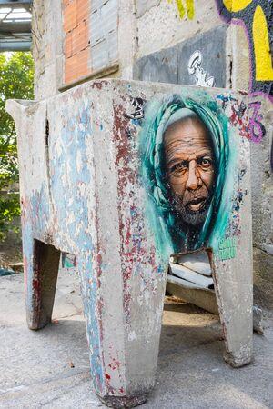 Porto, Portugal - September 16, 2018 : Graffiti on the streets of Porto, Portugal Sajtókép