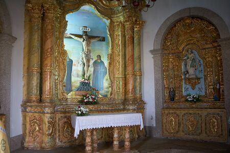 Vila Nova de Gaia, Portugal - September 30, 2018 : Interior of the chapel of Senhor da Pedra, Porto district, Portugal