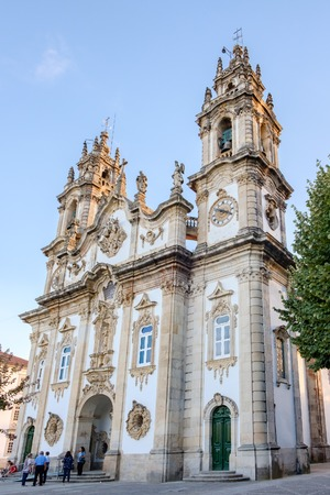 Lamego, Portugal - October 5, 2018 : Tourists and pilgrims visit the Sanctuary of Our Lady of Remedies ,District Viseu, Portugal Stock fotó - 110762505