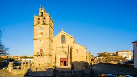 Vila do Conde, Portugal - January 03, 2019 : Church of St. John the Baptist, Porto District, Portugal