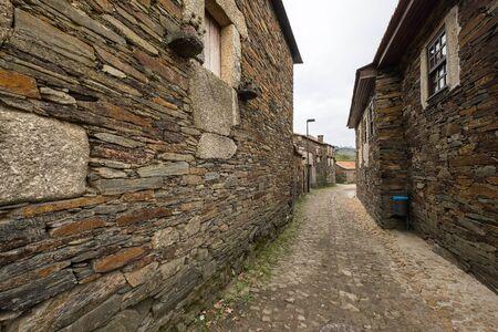 Quintandona, a Portuguese village of singular architecture and its buildings in slate, granite and slate stone. Penafiel, Portugal. Stock fotó