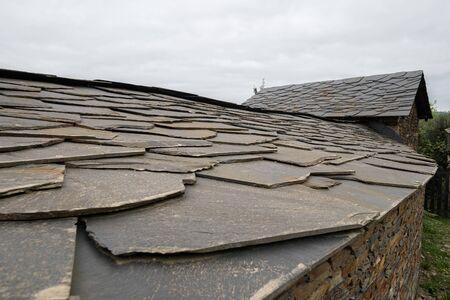 Quintandona, a Portuguese village of singular architecture and its buildings in slate, granite and slate stone. Penafiel, Portugal.