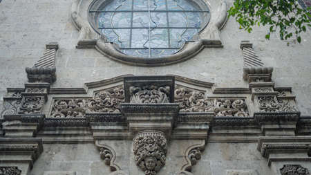Low Angle View of a Sculpted Arch on a Building with Byzantine Architecture