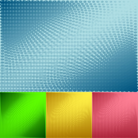 Set of circles abstract background Vector