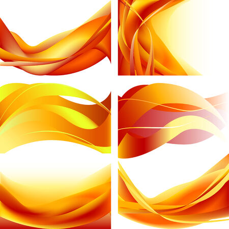 set fire waves abstract background