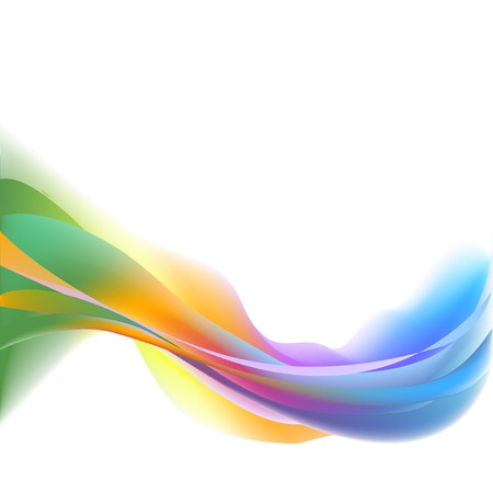 colored smoke: Colored rainbow wave abstract background