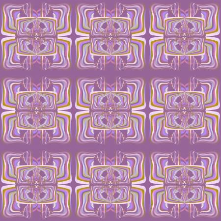 cyclamen: Cyclamen mosaic abstract background Illustration