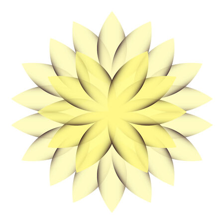 Yellow Wheel Flower transparent isolated Vector