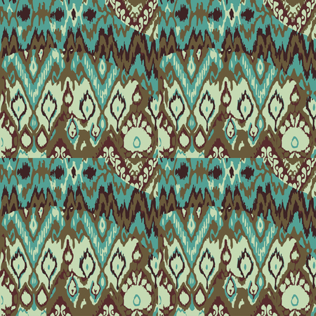 brown pattern: Colored seamless ethnic vector print pattern abstract background