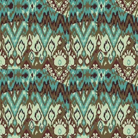 patrones de flores: Modelo de la impresión del vector étnica sin fisuras de color de fondo abstracto Vectores