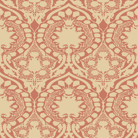 antiquated: Vector seamless floral pattern vintage background pink