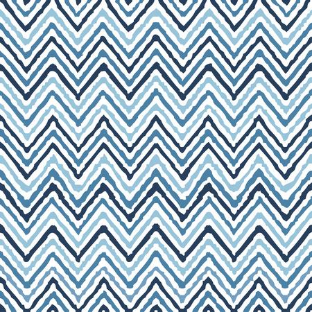 vintage: Hand tekening zigzag geometrische etnische patroon naadloze kleurrijke vector Stock Illustratie