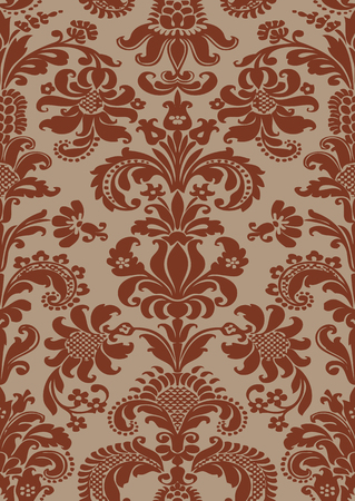 pattern antique: Vector seamless floral damask pattern for invitations, greeting cards, web page, pattern fills, or vintage abstract background