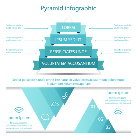 business pyramid infographic template design on white background