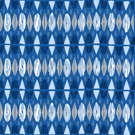 bue: Geometric seamless pattern ethnic abstract background vector