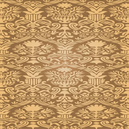 gold textures: Gold Seamless abstract hand-drawn floral pattern, vintage background. Seamless pattern can be used for wallpaper, pattern fills, web page background, surface textures, packaging, invitations Illustration