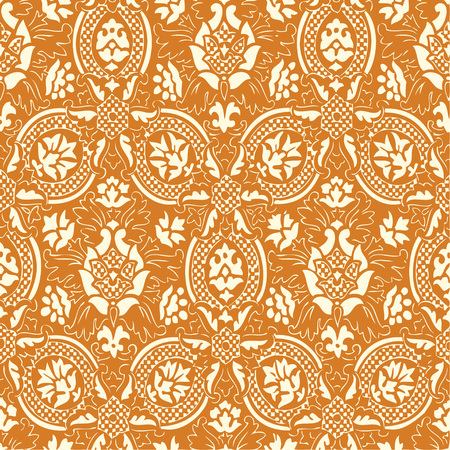 gold lace: Gold lace Seamless abstract hand-drawn floral pattern, vintage background.