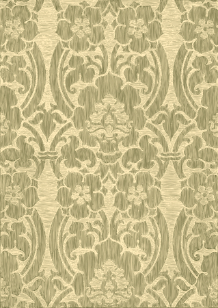 Beige abstract striped floral pattern, vintage background.