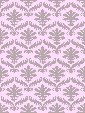 blush: Vector colorful damask seamless floral pattern background. Color trend blush. Elegant luxury texture for wallpapers, backgrounds and page fill