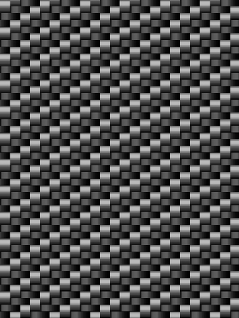 Black weave texture, geometric seamless background Illustration