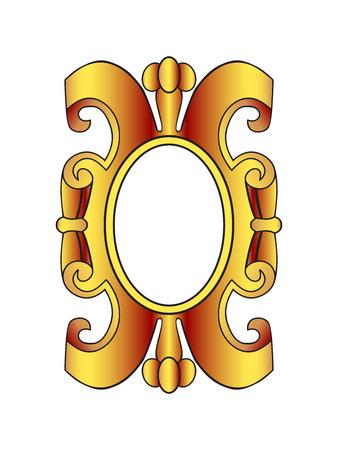 gold ornaments: Vector vintage border frame labels, design element page decorations. Gold cartouche