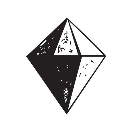 karat: Diamond shape icon isolated, vector illustration
