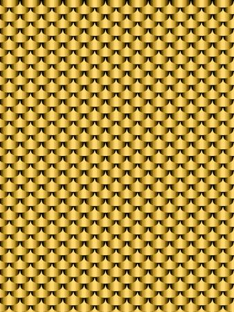 squama: Brushed metal gold, flake texture seamless background. Vector illustration Illustration