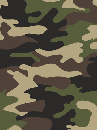 迷彩パターンの背景。ウッドランド スタイル。ベクトル図