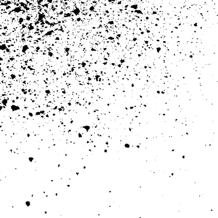 ink spill: Black Ink paint splatter on white background. Spray paint abstract background, vector illustration.