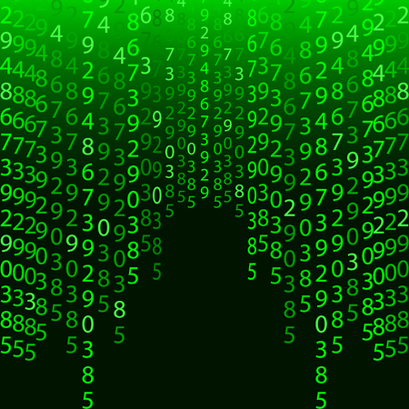 encoded: Abstract technology background. Programming, coding, hacker concept. Binary computer code. Vector background illustration on green background