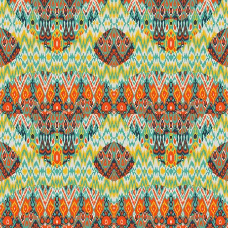민족 보헤미안 아 라베 스크 패턴 인쇄 패치 워크. 원활한 지그재그 기하학적 장식 추상적 인 배경입니다. 다채로운 부족 그래픽 민족 보헤미안 인쇄 빈티지