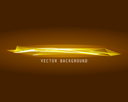 expanding: Lines shapes lighting abstract on golden dark background. Vector expanding light gold. Smooth golden abstract background with a slight glow effect and a space for your text or images