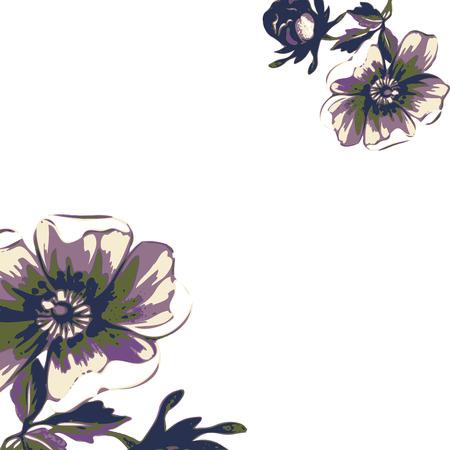 Vintage wallpaper frame rose flower pattern on beige background. Vector illustration Imagens