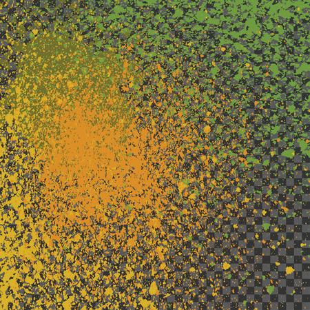 shine background: Splatter paint neon shine decoration acrylic, dust flow vector, magic stain glitter celebration, light gleaming illustration, shiny texture design spray abstract transparent gray background Illustration