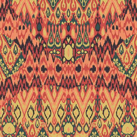 Ethnic tribal carpet, plaid pattern fabric wrapping, floor tile print, skin vintage abstract background vector, ethnic leather hand drawing pattern doodles