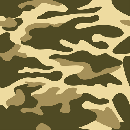masking: Camouflage pattern background seamless vector illustration. Classic clothing style masking camo repeat print. Green khaki olive colors forest texture
